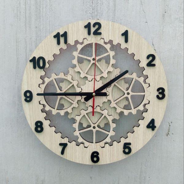 Đồng hồ treo tường nghệ thuật, đồng hồ bánh răng  cắt lazer. bán chạy