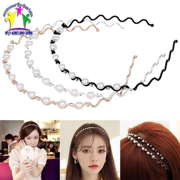 Băng đô nữ, bờm tóc cho bé gái, phụ kiện tóc nơ Hàn Quốc, cài tóc ngọc trai siêu đẹp - thương hiệu VỢ CHỒNG TÔI