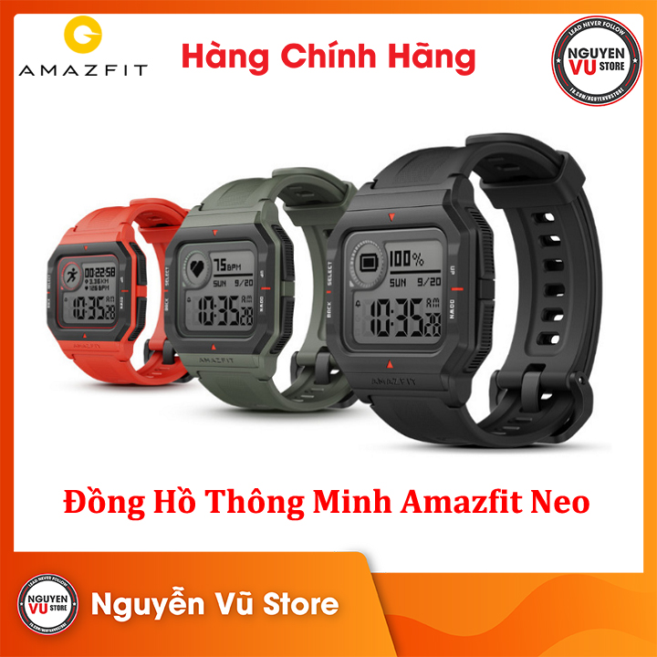 Đồng hồ thông minh Huami Amazfit Neo - Hàng Chính Hãng