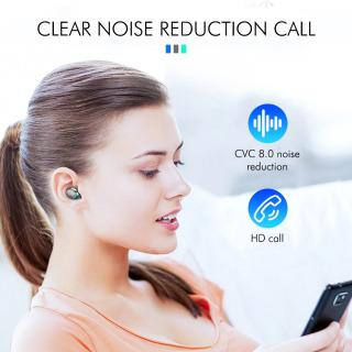 Tai nghe bluetooth BTH F9 5 tai nghe không dây Bluetooth 5.0 Pro, âm thanh 9D, chống nước, chống ồn Tai nghe bluetooth pin 3500 mAh kiêm sạc dự phòng cho điện thoại 2