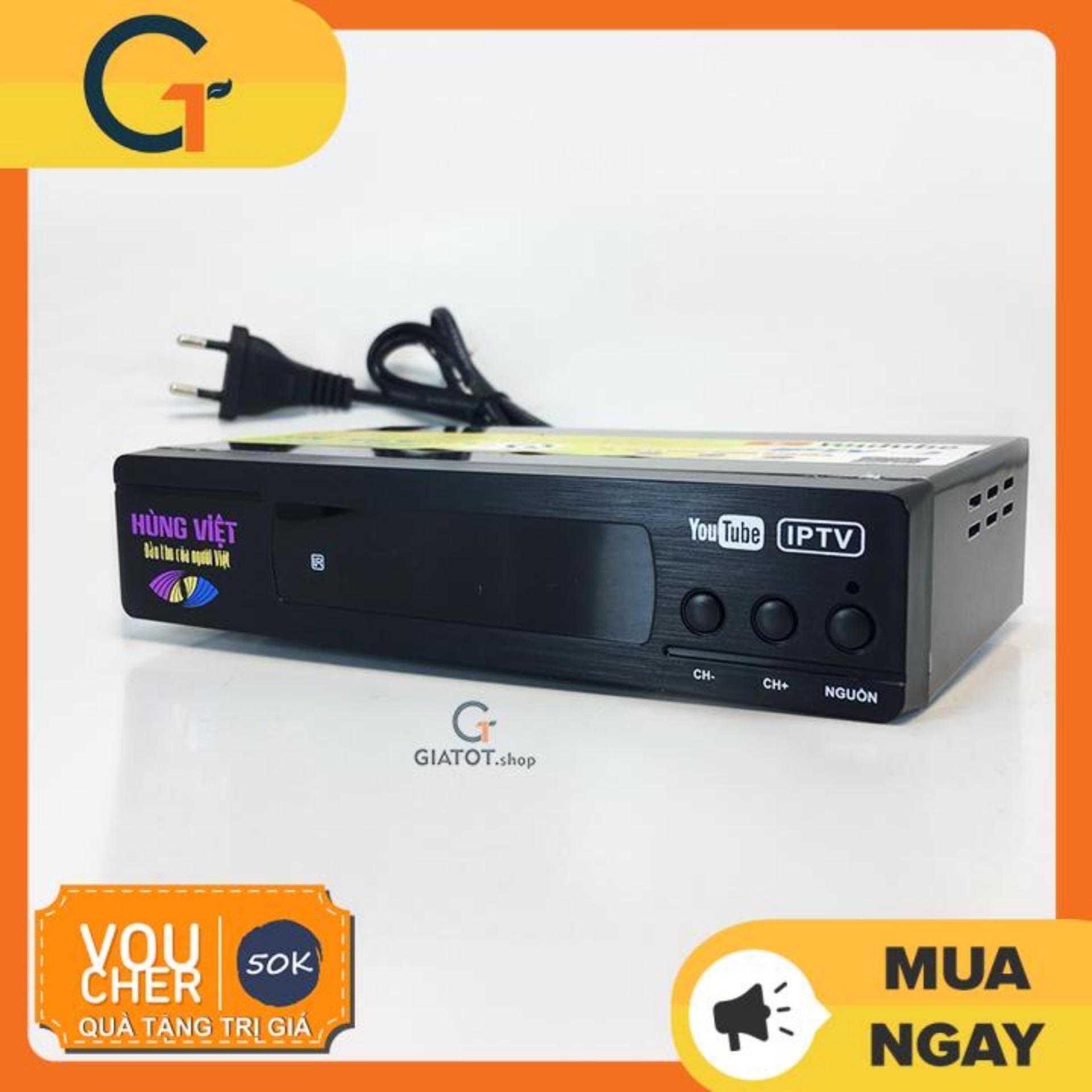 Bảng giá Đầu thu DVB T2 Hùng Việt TS 123 internet xem Youtube, IPTV phiên bản 2018 Điện máy Pico