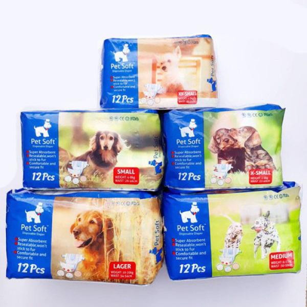 Bịch bỉm thú cưng gồm 12 miếng 1-3kg