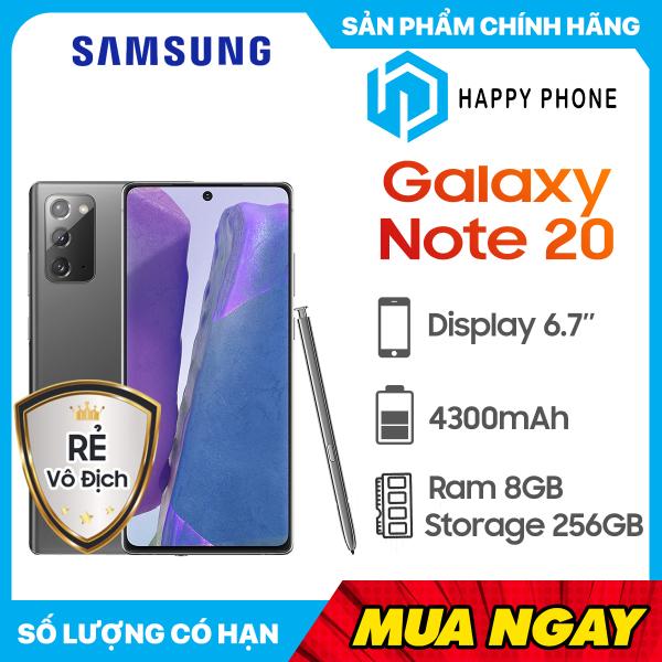 Điện thoại Samsung Galaxy Note 20 (256GB/8GB) - Hàng Chính Hãng, Mới 100%, Nguyên seal, Bảo hành 12 Tháng