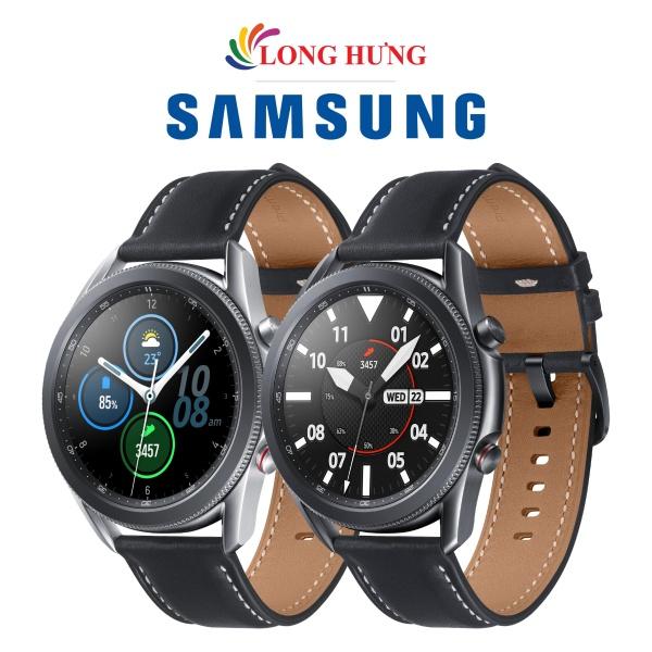 Đồng hồ thông minh Samsung Galaxy Watch 3 LTE viền thép dây da - Hàng Chính Hãng - Có eSIM sử dụng độc lập Thiết kế sang trọng tinh tế Tiêu chuẩn chống nước 5ATM/IPX68