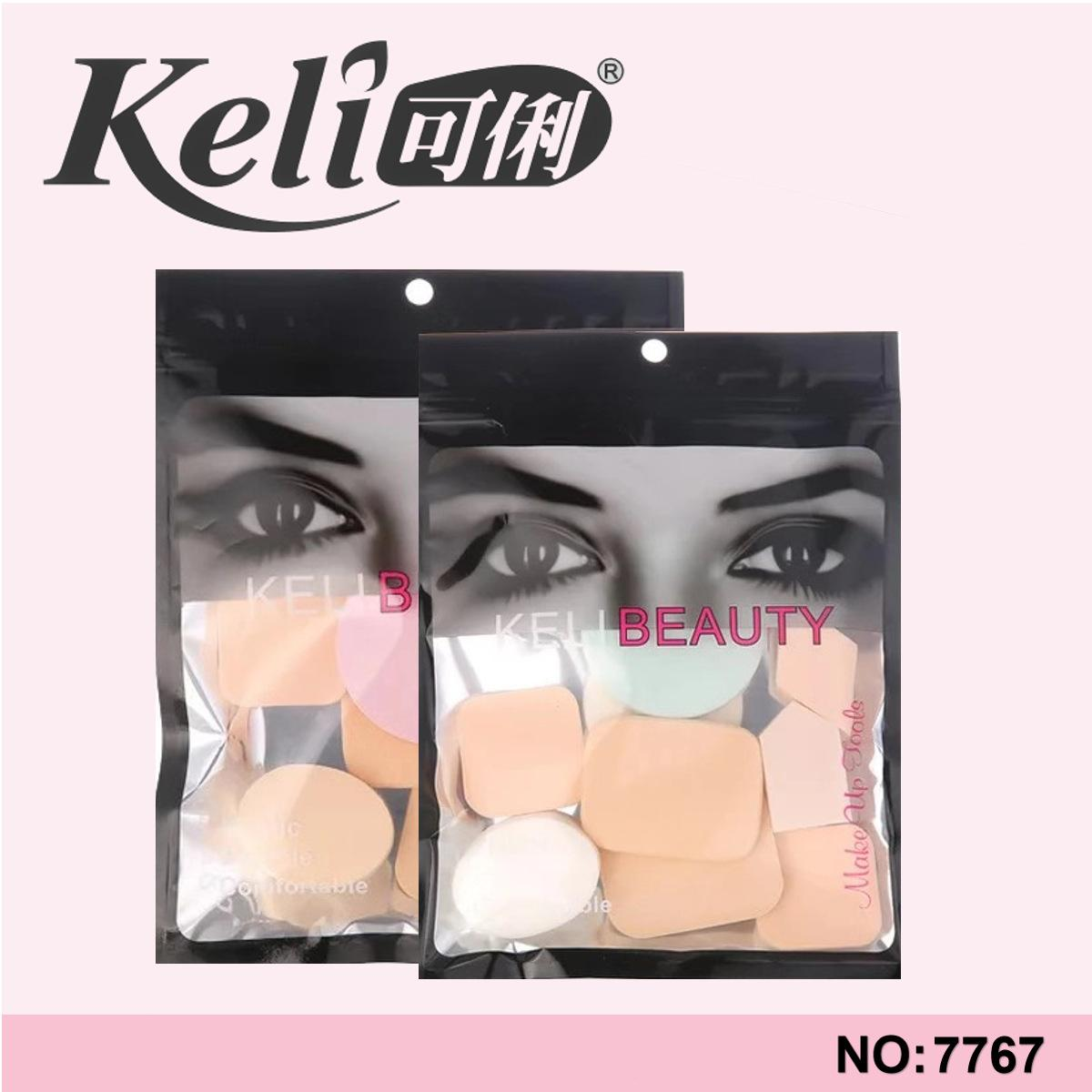 Bông mút trang điểm tán kem nền 9 món Keli Beauty T2 chính hãng