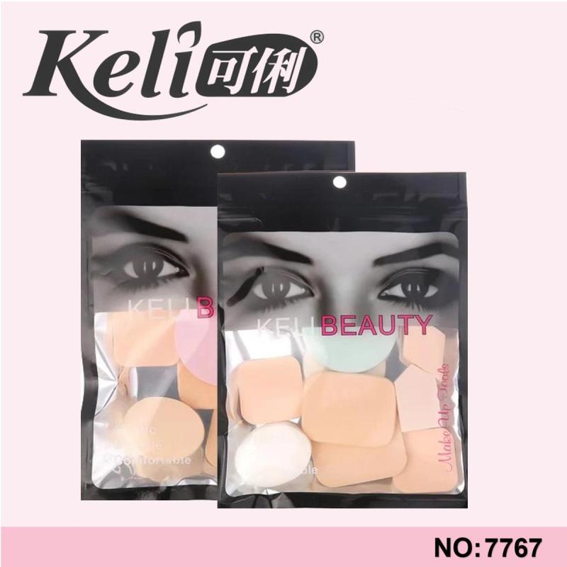 Bông mút trang điểm tán kem nền 9 món Keli Beauty T2 nhập khẩu