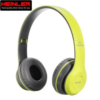 Tai nghe Bluetooth không dây Heinler HS-P47 gấp gọn có mic thoại, nghe nhạc 4-6 tiếng, hỗ trợ thẻ nhớ 32G (Xanh lá) thumbnail