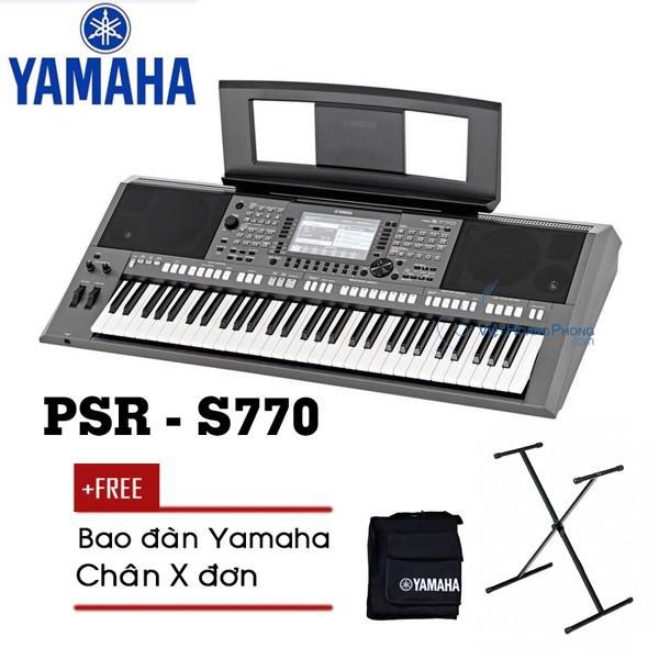 Đàn Organ Yamaha PSR-S770 Kèm AD + Giá nhạc + Chân X đơn + Bao đàn - Organ chuyên nghiệp - HappyLive Shop