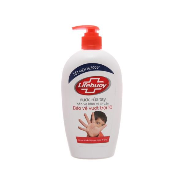 Nước rửa tay Lifebuoy Bảo vệ khỏi vi khuẩn 500gr (Chai) cao cấp