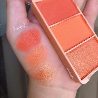 Má hồng 3 ô đào Kiss Beauty Peach Of Blush - Cavali - Tone cam đào hottrend, chất phấn mịn, lâu trôi thumbnail