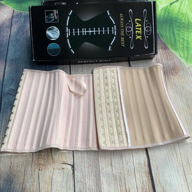 Đai nịt bụng latex ngắn 25cm full box có sách hướng dẫn sử dụng