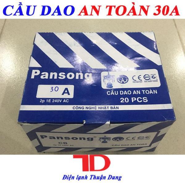 Bảng giá Combo 20 Cầu dao an toàn 30A PANSONG, CB tự động
