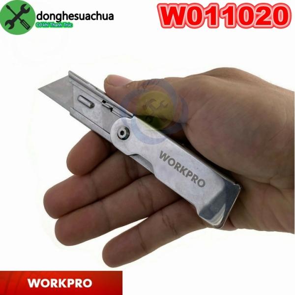 Dao rọc giấy Workpro W011020 loại xếp cán inox