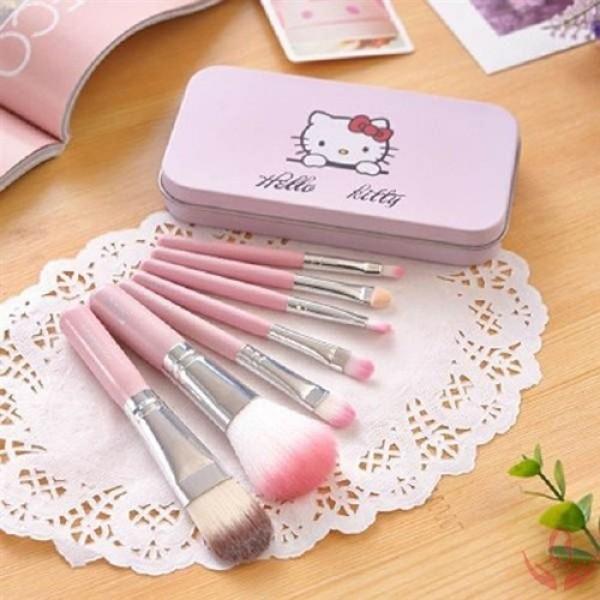 Bộ cọ trang điểm Hello Kitty 7 Món Hộp Sắt Cao cấp giá rẻ