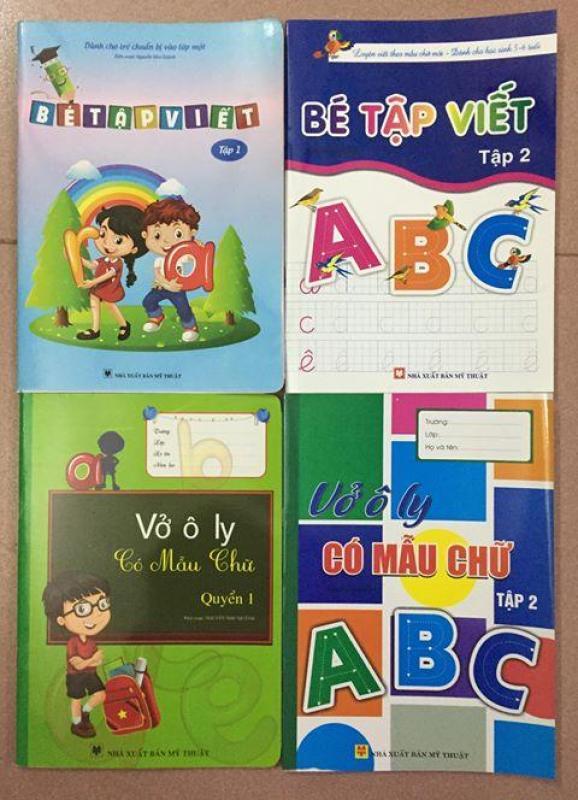 Mua Set 4 quyển sách cho bé tập viết + tặng kèm 2 bút chì