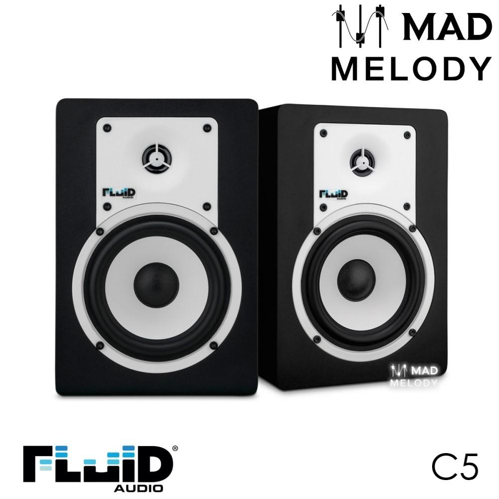 Fluid Audio C5 5 inches Studio Monitors, Black [loa kiểm âm, đen phối trắng, 1 cặp, NEW]