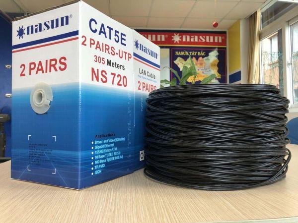Bảng giá Dây cáp mạng 4 lõi + dây cường lực Nasun cuộn 305M (dây cứng ns-720) Phong Vũ