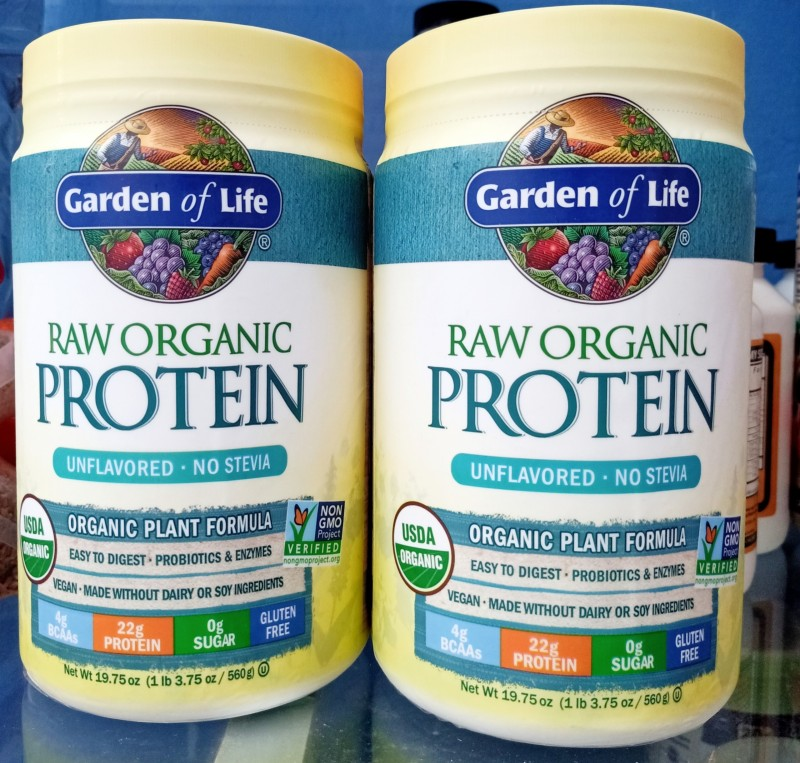 Bột đam hữu cơ không đường cỏ ngọt Garden of life cao cấp