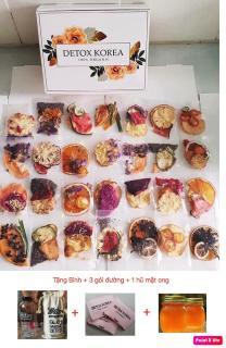 Set Vip 30 Gói Trà Detox hoa quả sấy khô giảm cân, DETOX KOREA (ảnh thật) Tặng bình Pongdang 600ml + 3 gói đường + 1 hũ mật ong thumbnail