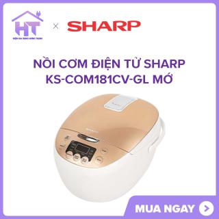 Nồi cơm điện tử Sharp KS-COM181CV-GL Mới ( 9 chức năng nấu, công nghệ nấu 2D,giữ ấm tới 12 tiếng,hẹn giờ nấu xong 24 tiếng. ) thumbnail