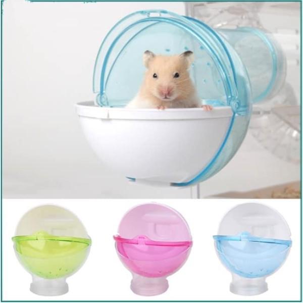 Nhà Tắm Hình Cầu Gắn Lồng Cho Hamster