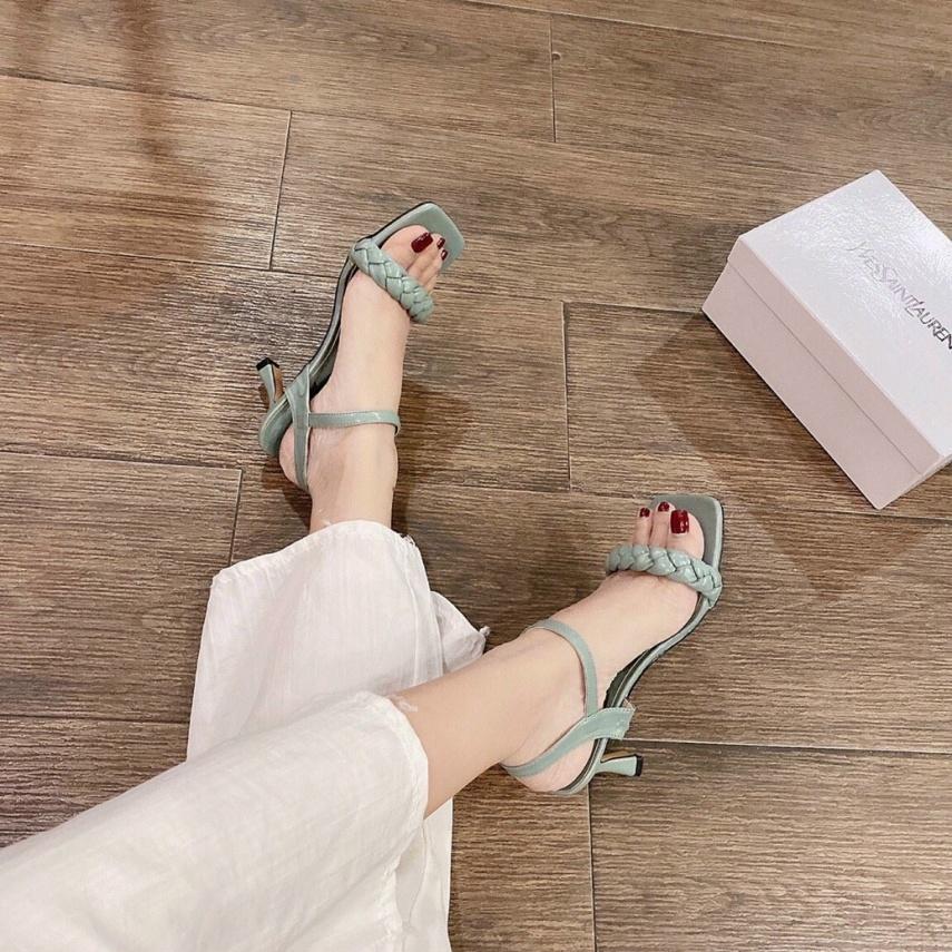 sandanl cao gót 7p quai da chắc chắn hotrend 2021 giá rẻ