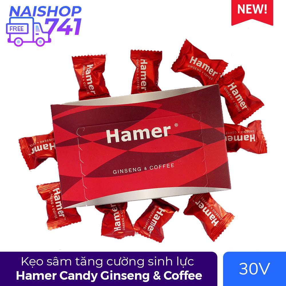Kẹo Sâm Hamer Candy Ginseng & Coffee (Hộp 30 Viên)