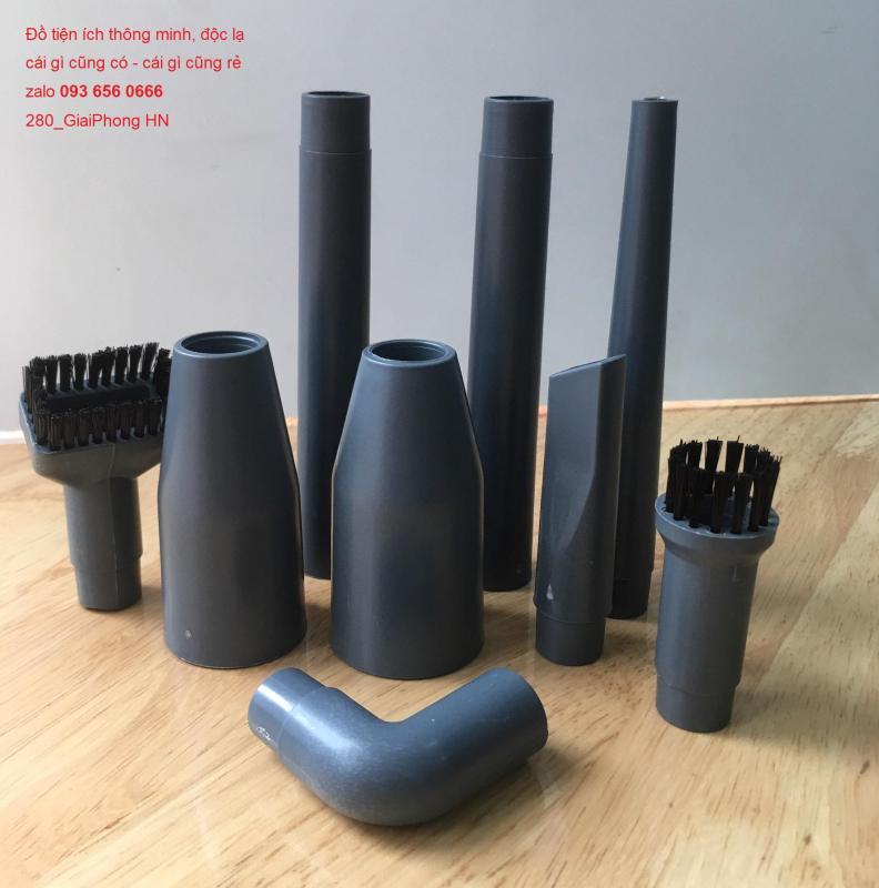 Set 9 Chổi Vệ Sinh Chuyên Dụng Cho Máy Hút Bụi + Bộ Phụ Kiện Đi Kèm,Set ống đầu nối dài chuyển đổi cho máy hút bụi