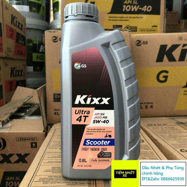 Nhớt xe ga tổng hợp 100% Kixx Ultra 4T Scooter Fully Synthetic 5w40 [ 800ml ]
