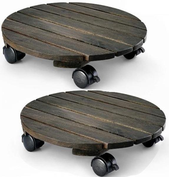 Đế gỗ để chậu cây - vật nặng có bánh xe đi chuyển