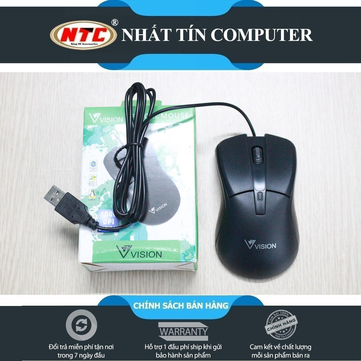 Chuột máy tính có dây Vision VSP V-230 (Đen) - Hãng phân phối chính thức