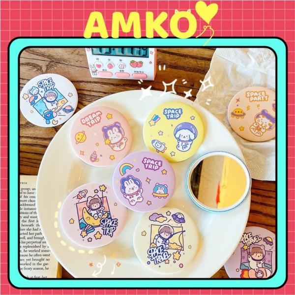 Gương Mini Cầm Tay Đáng Yêu - Gương Tròn Bỏ Túi Tiện Dụng Hình Mặt Trăng AMKO G03 giá rẻ