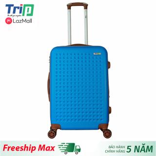 [Hỗ trợ phí Ship] Vali TRIP P803A size 24inch ( Xanh dương) - Vali nhựa TRIP cao cấp, size ký gửi đựng 20kg hành lý, dây keo đôi nới rộng vali thumbnail