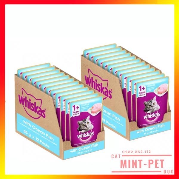 Hộp 24 Gói Pate Whiskas Cho Mèo Trưởng Thành
