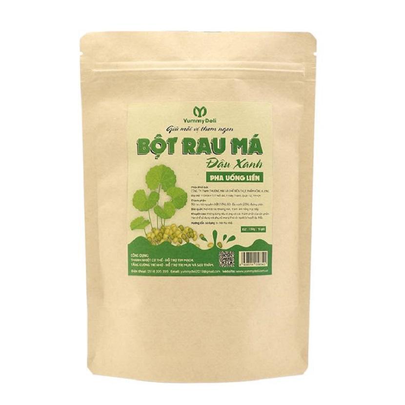 Bột rau má đậu xanh tiện lợi Yummy Deli - 150g