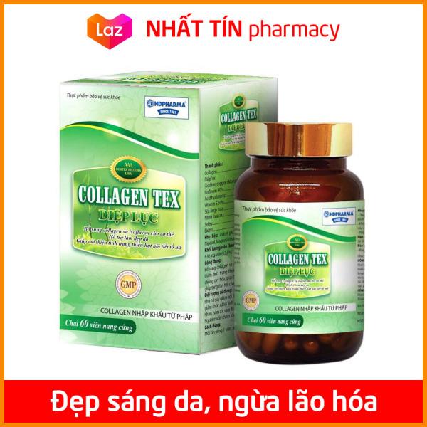 Viên uống Collagen Diệp Lục đẹp da, chống lão hóa, tăng nội tiết tố nữ, giảm nám sạm da - Hộp 60 viên - NHẤT TÍN PHARMACY