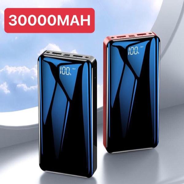 SẠC CỰC NHANH - PIN DỰ PHÒNG LCD MẶT GƯƠNG -VÔ PIN NHANH CHÓNG, DUNG LƯỢNG KHỦNG 30000MAH - PIN DỰ PHÒNG 2 CỔNG SẠC NHANH, SẠC CÙNG LÚC 2 ĐIỆN THOẠI