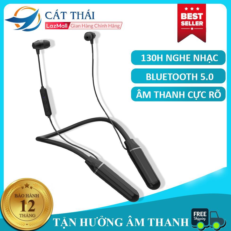 Tai nghe bluetooth đeo cổ A8 vỏ kim loại dung lượng lớn 1000mAh âm thanh tuyệt vời thích hợp vận động thể thao nghe gọi HD bluetooth 5.0 có cả hút từ Chống ồn