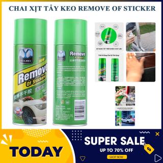 Chai Xịt Tẩy Keo Remove Of Stickers 450ml -Dung Dịch Tẩy Keo, Tem Dán - Làm sạch loại bỏ keo nhãn dán nhanh chóng 450ml thumbnail