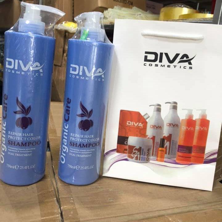 COMBO 1 CẶP Dầu Gội Xả Diva Xanh mỗi chai 750ml