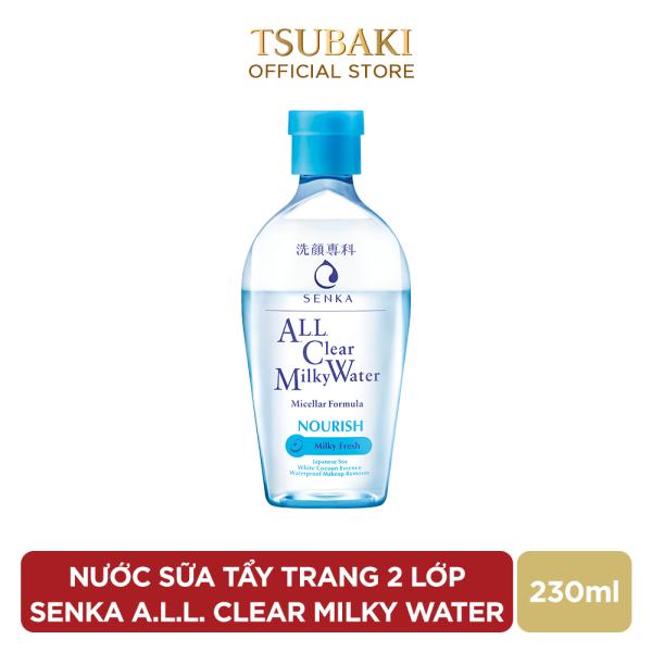 [GIFT] Nước Sữa Tẩy Trang 2 lớp SENKA A.L.L. CLEAR MILKY WATER 230ML giá rẻ