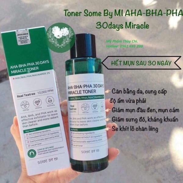 Nước Hoa Hồng Some By Mi AHA-BHA-PHA Toner