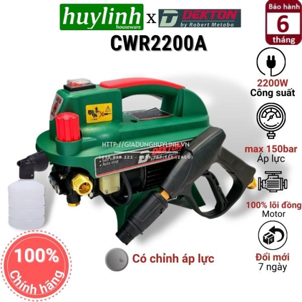 Máy xịt rửa xe chỉnh áp Dekton DK-CWR2200A - 2200W