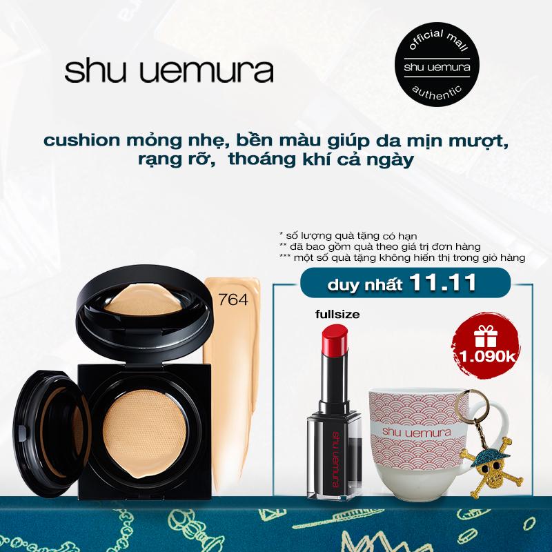 cushion mỏng nhẹ chuẩn bền shu uemura unlimited cushion foundation 15g