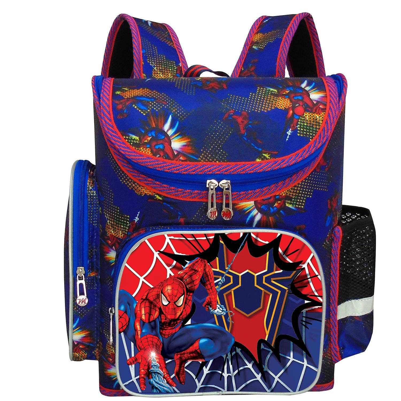 Giá bán Balo dạng hộp cho bé trai lớp 2 đến lớp 7 hình người nhện MHGL111