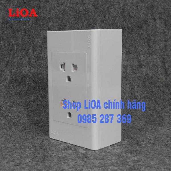 Bảng giá Combo ổ cắm điện đôi 3 chấu 16A LiOA (3520W) - Lắp nổi
