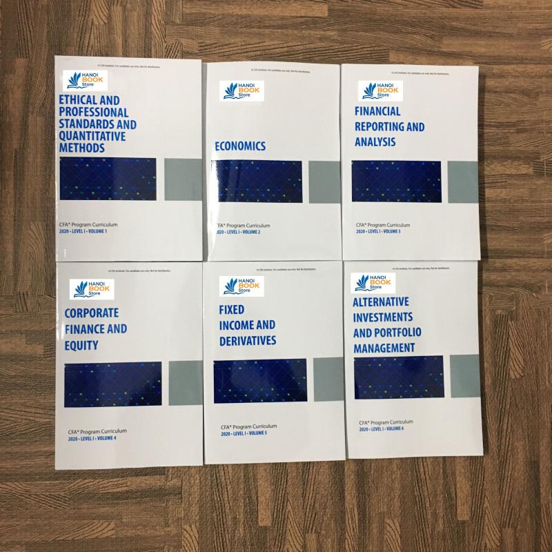 Bộ sách 6 quyển CFA CURRICULUM level 1 - 2020 ( sách keo gáy) tặng kèm Schwesers Quicksheet