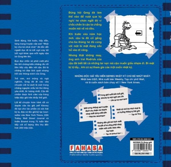 Fahasa - Song Ngữ Việt - Anh - Diary Of A Wimpy Kid - Nhật Ký Chú Bé Nhút Nhát: Luật Của Rodrick - Rodrick Rules