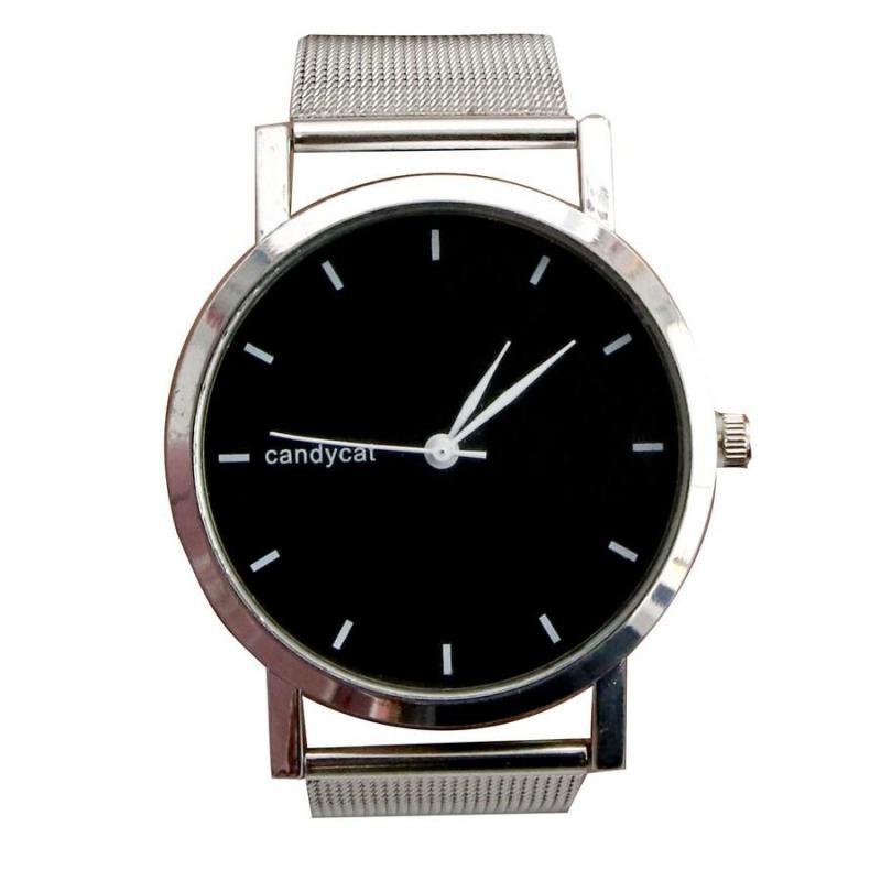 Nơi bán Đồng hồ nữ Candycat Có video thực Dây kim loại Đồng hồ nữ đeo tay