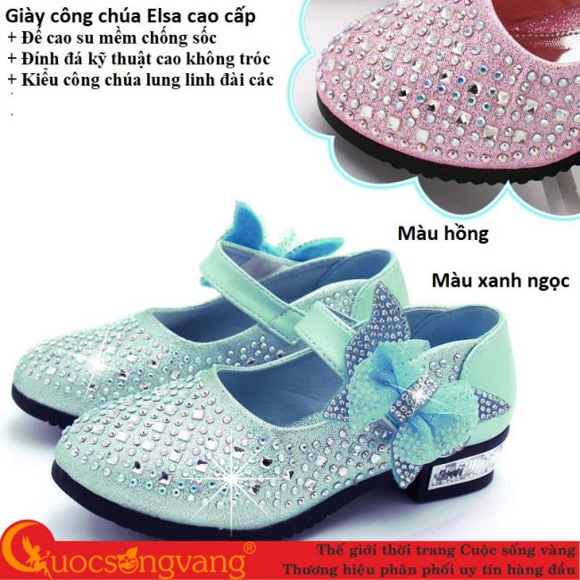 Giày elsa đính đá cao cấp kiểu công chúa giày công chúa elsa đế êm G015 giá rẻ